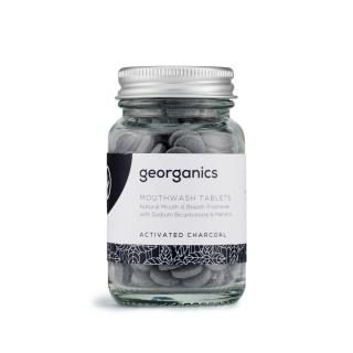 Mouthwash tablets with activated charcoal and organic peppermint essential oil
