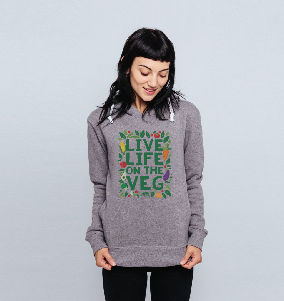 Live Life On The Veg Fitted Hoodie