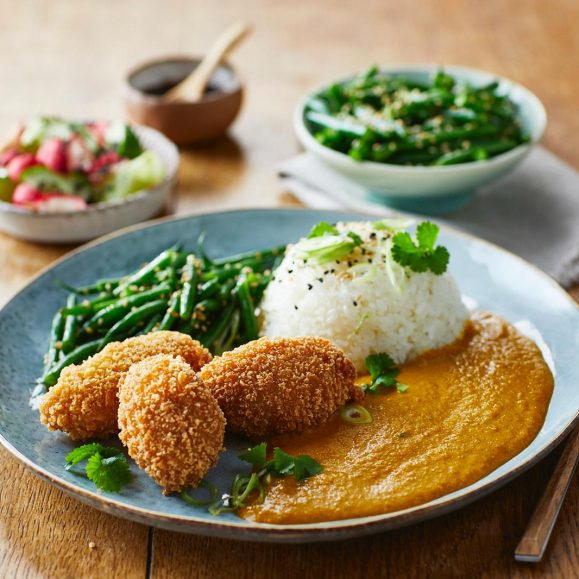 Katsu Curry with Sweet Potato, Broccoli and Tofu Filling